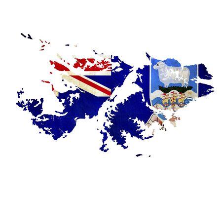 Map of Falkland Islands isolated photo