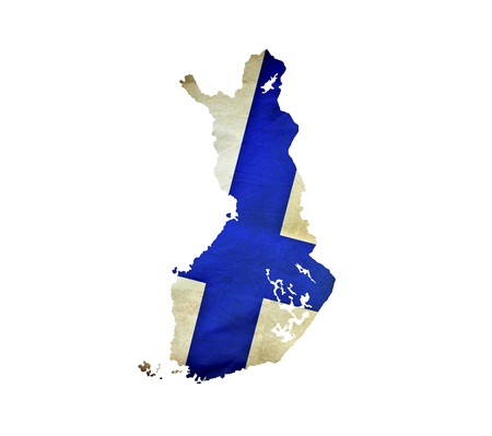 Map of Finland isolated photo