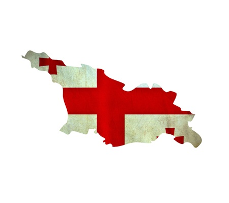 georgia flag: Map of Georgia isolated