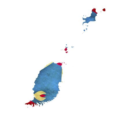 saint george: Map of Grenada isolated