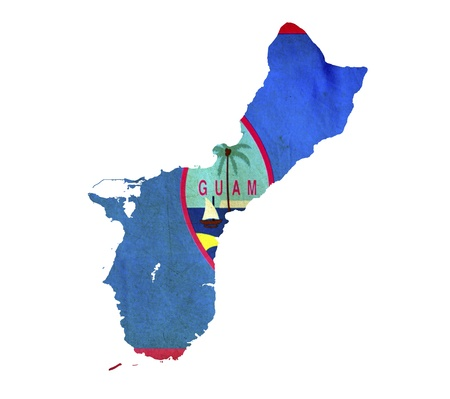 guam: Map of Guam isolated