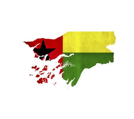 guinea bissau: Map of Guinea Bissau isolated