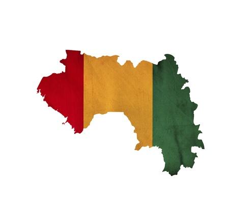 guinea: Map of Guinea isolated