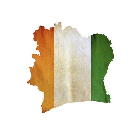 coast line: Map of Ivory Coast isolated