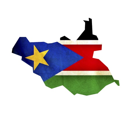 south sudan: Map of South Sudan isolated Stock Photo