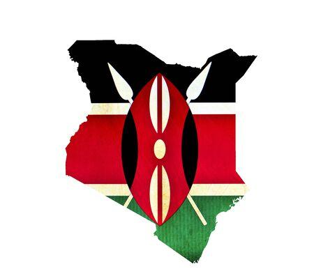 Map of Kenya isolated photo