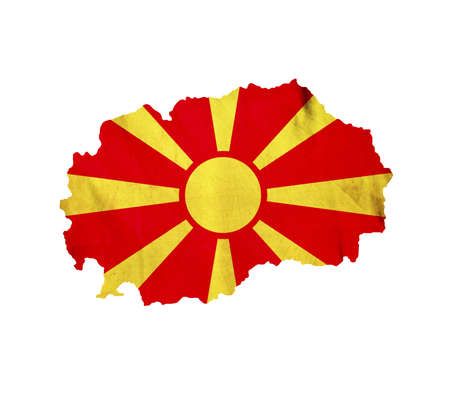 macedonia: Map of Macedonia isolated