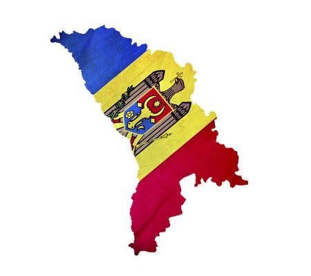 Map of Moldova isolated
