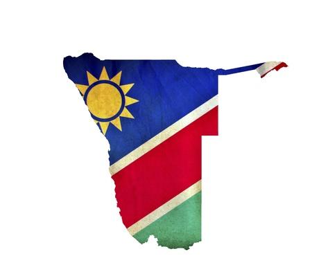 namibia: Map of Namibia isolated