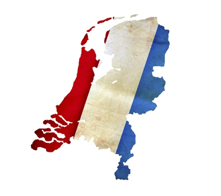 Map of Netherlands isolated photo
