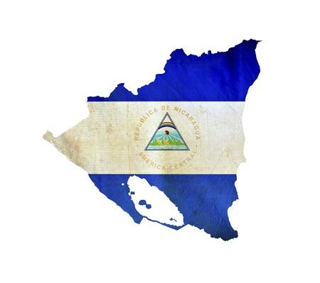Map of Nicaragua isolated photo