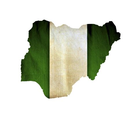 Map of Nigeria isolated photo