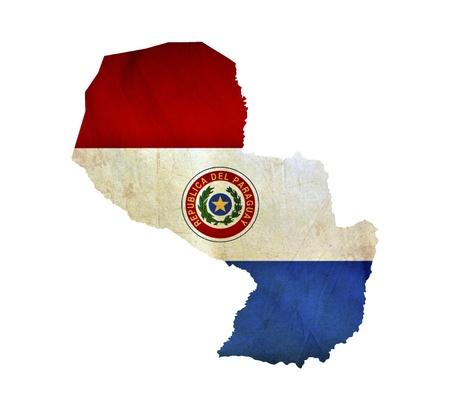 bandera de paraguay: Mapa de Paraguay aislado