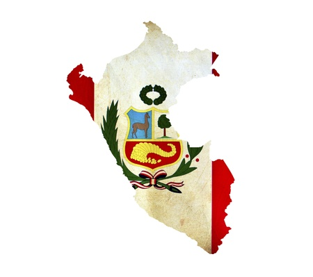 Map of Peru isolated photo