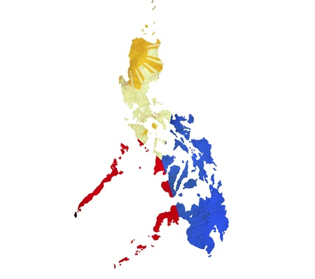manila: Map of Philippines isolated