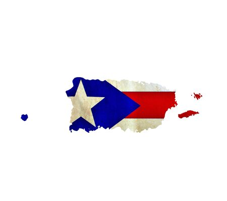 Map of Puerto Rico isolated photo
