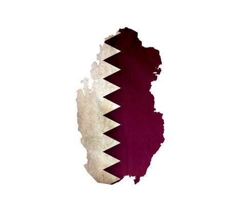 Map of Qatar isolated photo