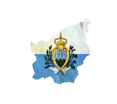 Map of San Marino isolated photo
