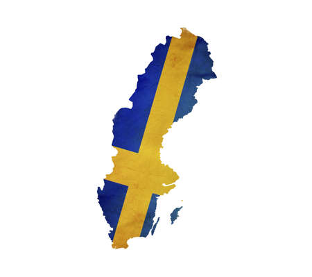 Map of Sweden isolated photo