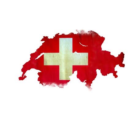 zwitserland vlag: Kaart van Swiss geïsoleerde
