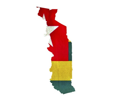 togo: Map of Togo isolated