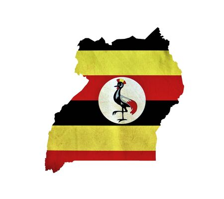 uganda: Map of Uganda isolated