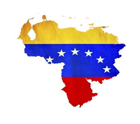 bandera de venezuela: Mapa de Venezuela aislada Foto de archivo