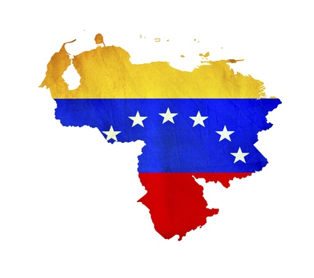 Venezuela flag: Mapa de Venezuela aislada Foto de archivo