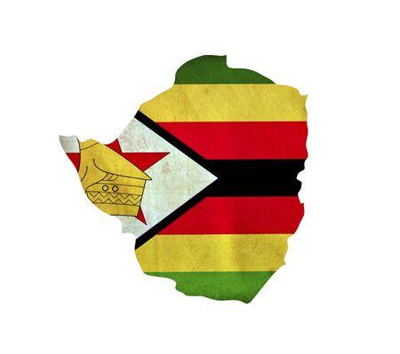 zimbabwe: Map of Zimbabwe isolated