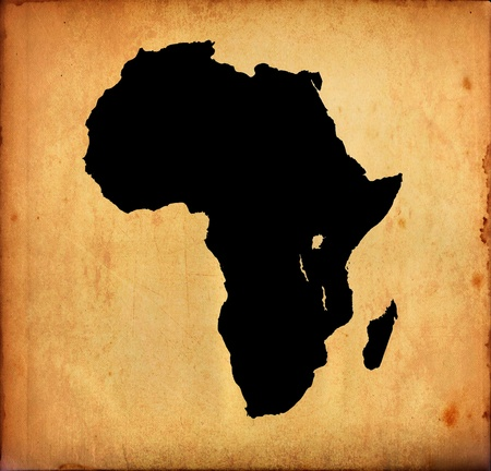 Grunge map of Africa Stock Photo - 12416400
