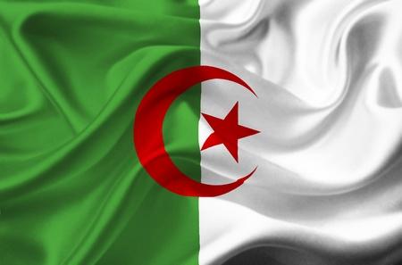 algeria: Algeria waving flag