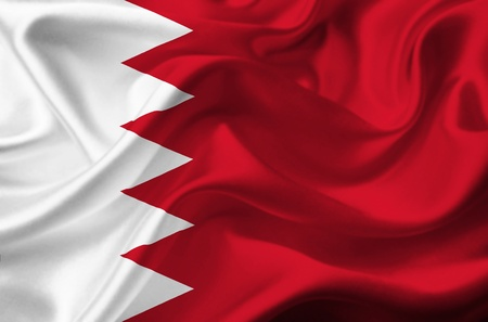 Bahrain waving flag photo