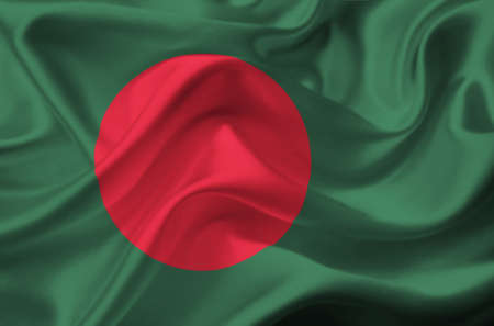 Bangladesh waving flag photo