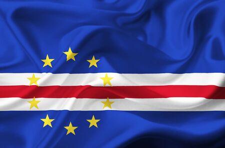 cape verde: Cape Verde waving flag Stock Photo