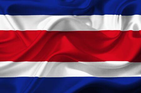 costa rica: Costa Rica waving flag