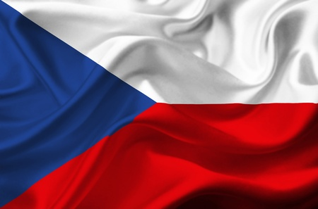 Czech Republic waving flag Stock Photo - 12415816