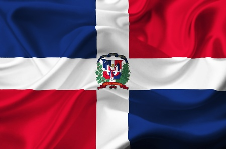 Dominican Republic waving flag Stock Photo