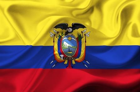 Ecuador waving flag photo