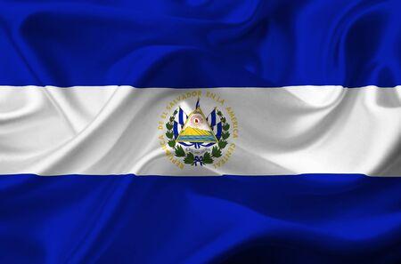 el salvador flag: El Salvador waving flag Stock Photo