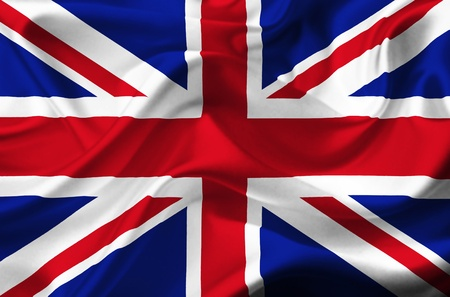union jack flag: Great Britain waving flag