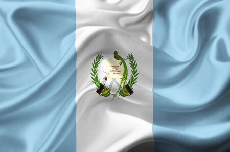 Guatemala waving flag Stock Photo - 12416341