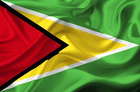 Guyana waving flag photo