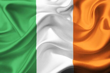 Ireland waving flag photo