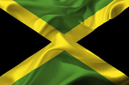 Jamaica waving flag Stock Photo - 12415758