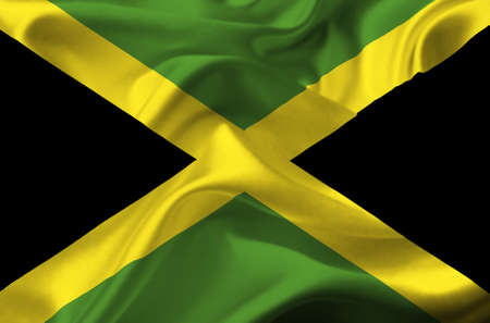 Jamaica waving flag Stock Photo - 12415758