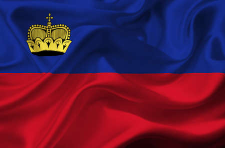 Liechtenstein waving flag photo