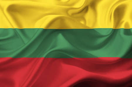 Lithuania waving flag photo