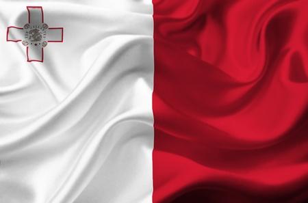 malta flag: Malta waving flag