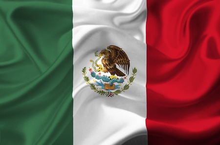 flag of mexico: Mexico waving flag