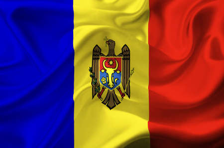 Moldova waving flag Stock Photo - 12416176